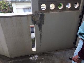 コンクリ壁 部分直し 修繕・修理